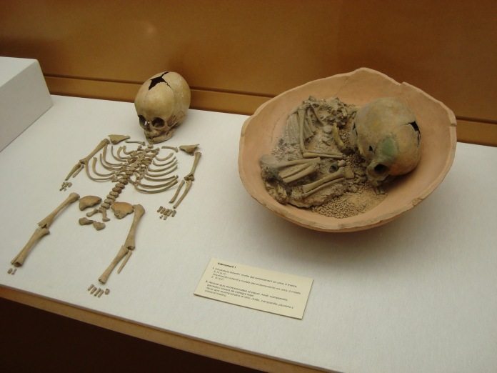 "alt=""Esqueleto infantil íbero"""
