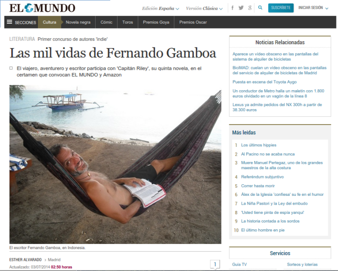 "alt=""Fernando Gamboa, Amazon, concurso, javierpellicerescritor.com"""