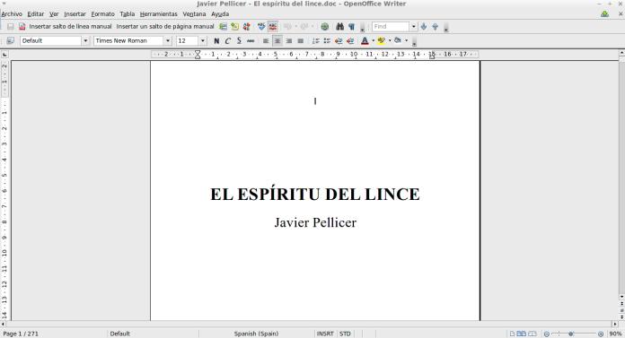 """alt=""""El espíritu del lince, manuscrito, javierpellicerescritor.com"""""""