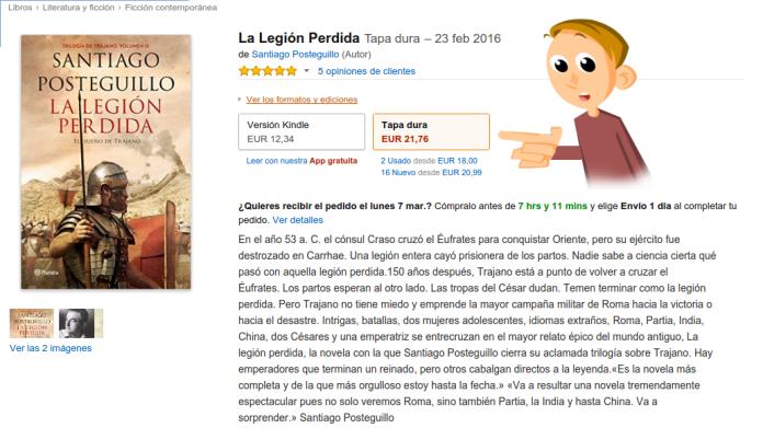 """alt=""""posteguillo, la legión perdida, amazon, precio, javierpellicerescritor.com"""""""