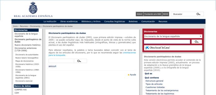 """alt=""""Dicccionario panhispánico, dudas, RAE, javierpellicerescritor.com"""""""